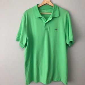 Vineyard Vines green classic fit polo rugby medium